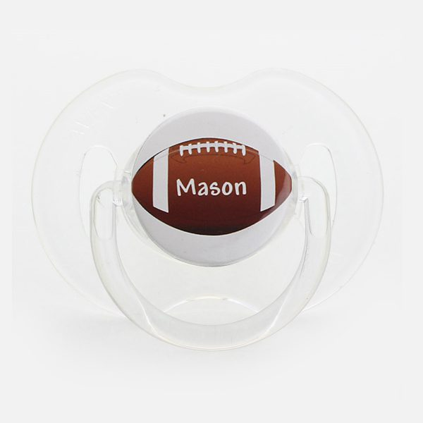 Personalized Name Boys Football Pacifier