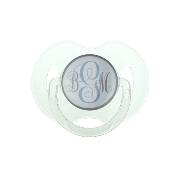 Tan Personalized Monogram Pacifier
