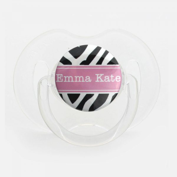 Personalized Name Zebra Pacifier