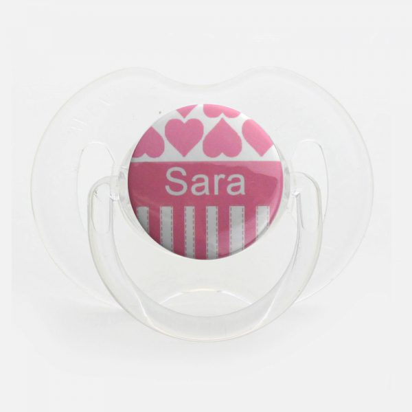 Personalized Name Hearts Pacifier