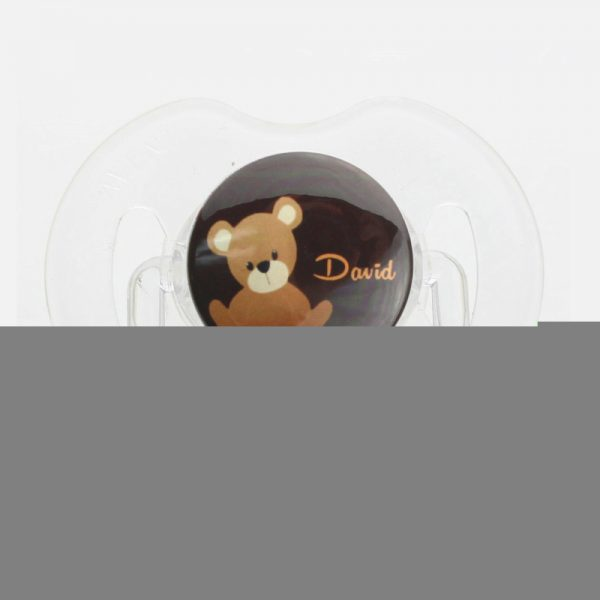 Personalized Name Teddy Bear Pacifier